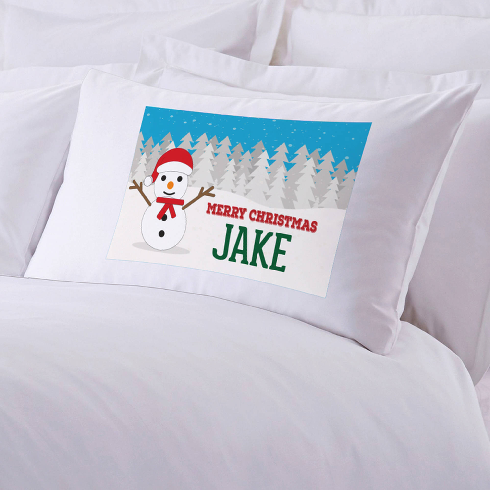 "Personalized Kid's Name Christmas Pillow Case, 20"" x 30"""