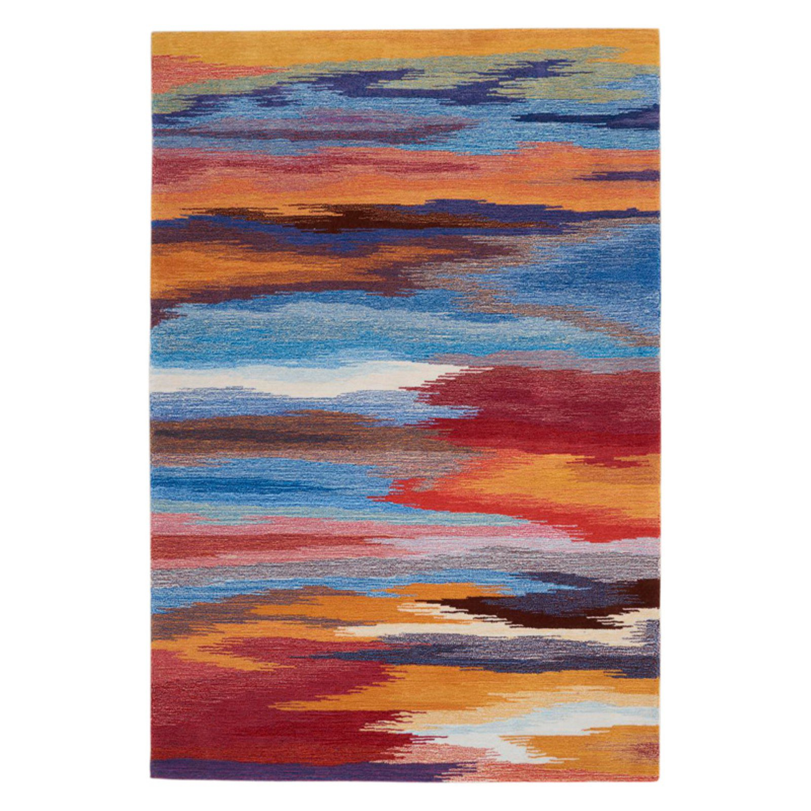 Nourison Contour CON78 Handmade Decortaive Rug, Sunset