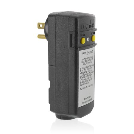 - 16693 15-Amp, 120-Volt, Grounded, Compact Automatic Reset Right Angle GFCI, RoHS Compliant, Black, Rainproof, outdoor rated GFCI module..., By Leviton Ship from US
