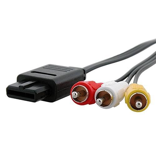 Insten AV Composite Cable For Nintendo 64 N64 / GameCube , Black