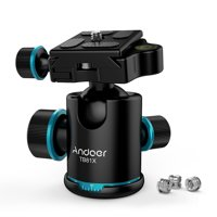 "Andoer TB81X Tripod Ball Head 360 Degree Rotating Panoramic Ball Head for Tripod Monopod Slider DSLR Camera with 3pcs 1/4"" to 3/8"" Srew Adapters Max. Load 8Kg/17.64Lbs"