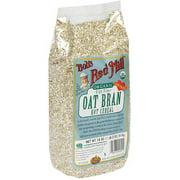 Bob's Red Mill Organic Oat Bran High Fiber Hot Cereal, 18 oz (Pack of 4)
