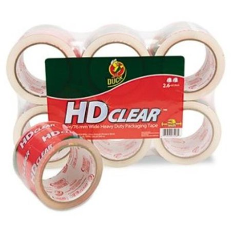 Henkel 0007496 Heavy-Duty Carton Packaging Tape, 3 in. x 55 yards, Clear, 6 Per Pack