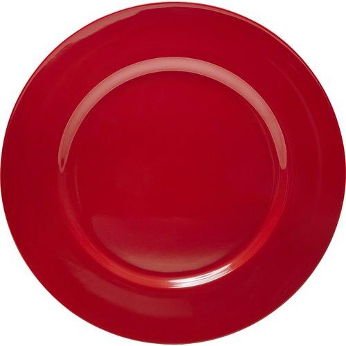 Calypso Basics, 6pc Melamine Salad Plate Set, Red