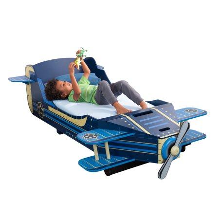 KidKraft Airplane Toddler Bed (Tractor Toddler Bed)