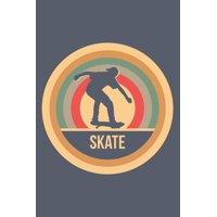 Skate: Retro Vintage Skateboard Notizbuch A5 Liniert 108 Seiten Notizheft - Geschenk für Skater & Skateboarder (Paperback)