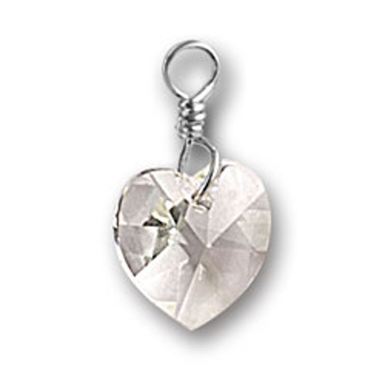Sterling Silver Girls .8mm Box Chain Heart Wrapped Flowers Pendant Necklace