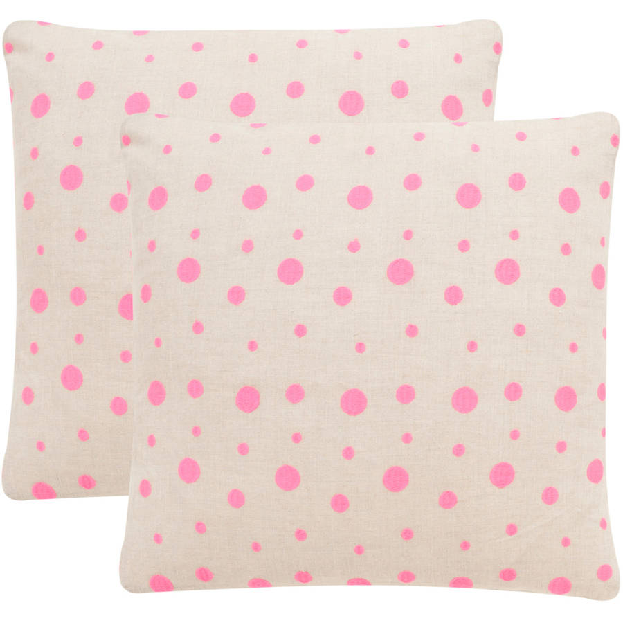 Safavieh Candy Buttons Polka Dots Pillow, Set of 2