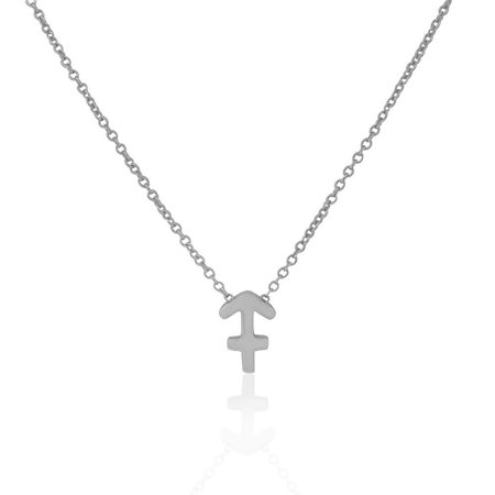 925 Sterling Silver Small Zodiac Sign Pendant Necklace, 18