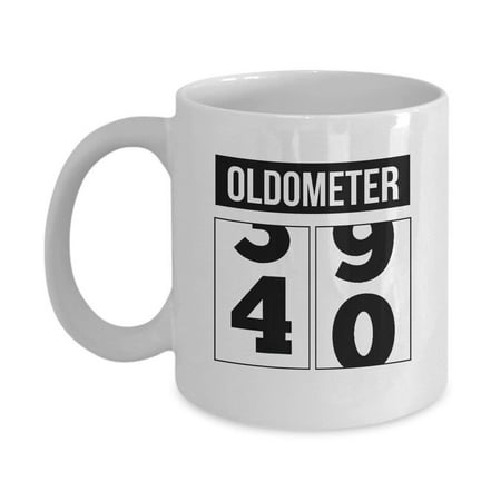 Funny Unique 40th Birthday Oldometer Coffee & Tea Gift