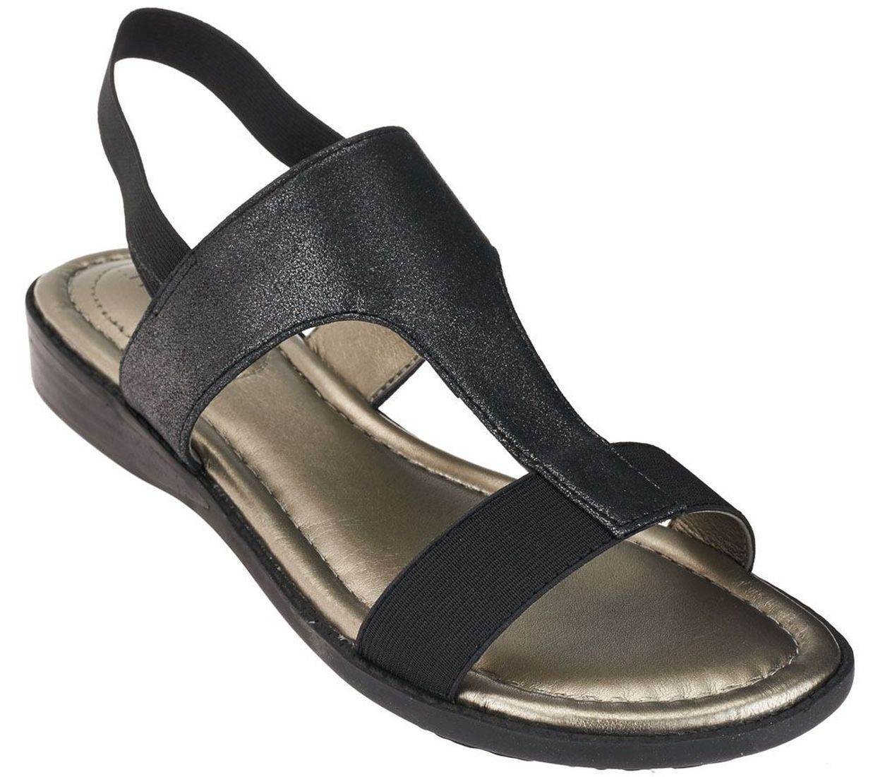 Me Too Metallic T-strap Sandals Goring Zoey A264784 by