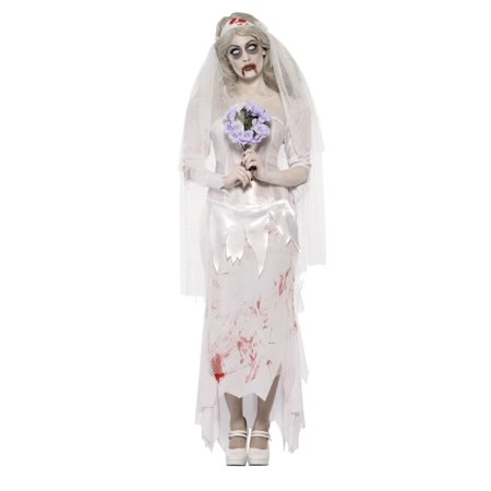 Ladies Zombie Bride Halloween Costume (49