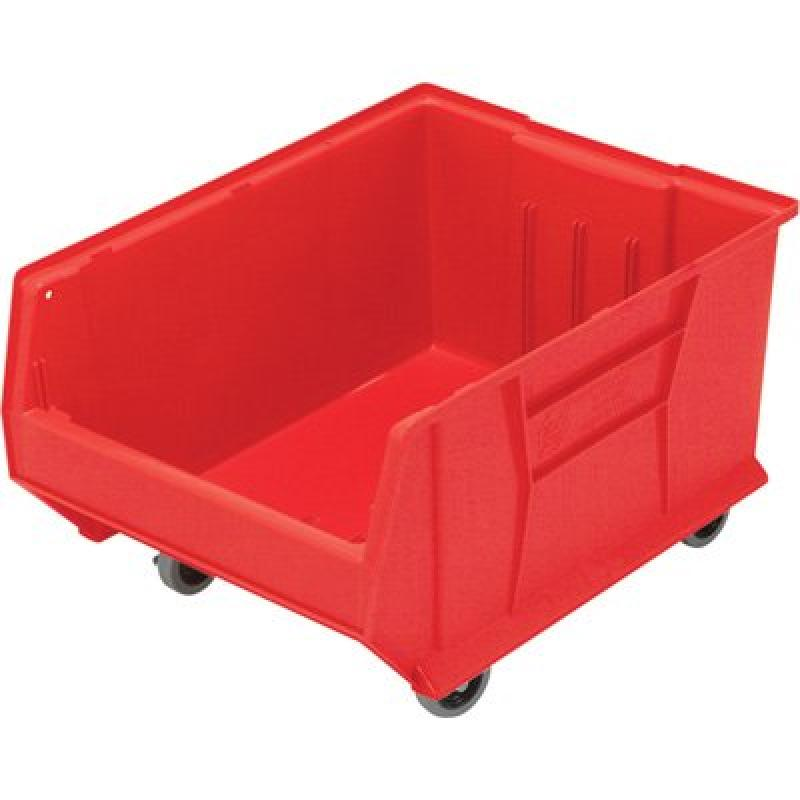 Quantum QUS965MOB Plastic Storage Stacking Hulk Container, 24-Inch by 18-Inch by 15-Inch, Red, Case of 1
