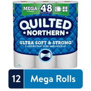Quilted Northern Ultra Soft & Strong Toilet Paper, 12 Mega Rolls (= 48 Regular Rolls)