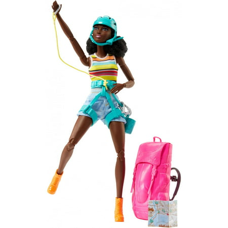 Barbie Made to Move Rock Climbing & Hiking Doll, Brunette