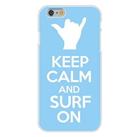Apple iPhone 6 Custom Case White Plastic Snap On - Keep Calm and Surf On