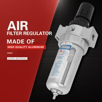 Anauto Rc1/4  Air Compressor Moisture Water Trap Filter Regulator with Mount Connection Air Pressure Regulator, Pneumatic Air Filter