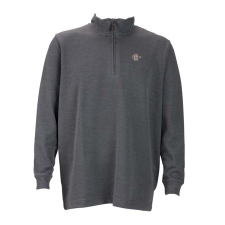 San Diego State Mens 1 4 Zip Flat Back Rib Pullover  Color  Grey