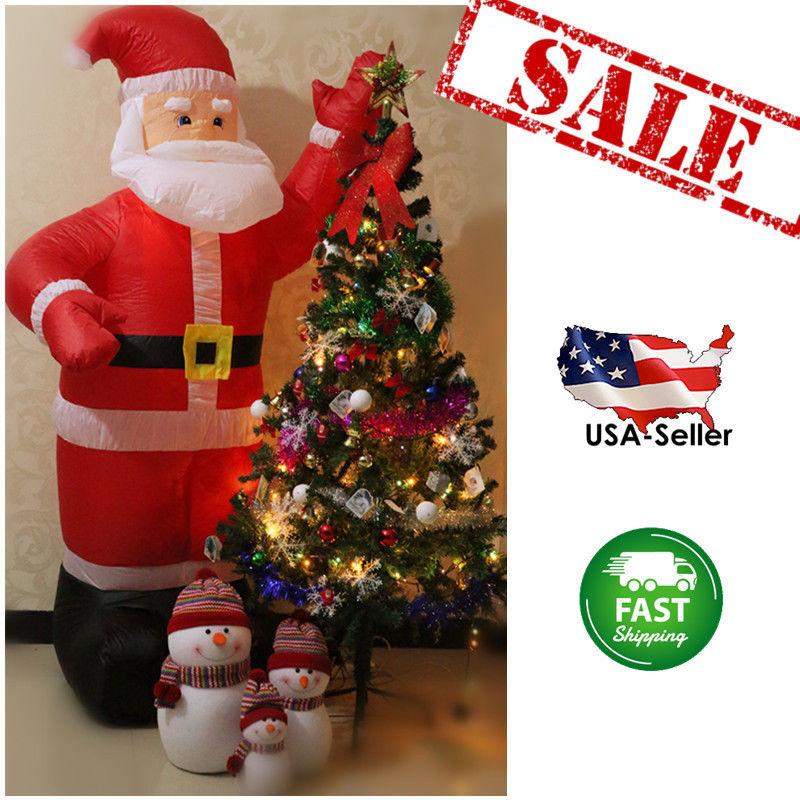 6' Christmas Xmas Inflatable Santa Claus Waving Hand Air Blown Outdoor Yard House Lawn