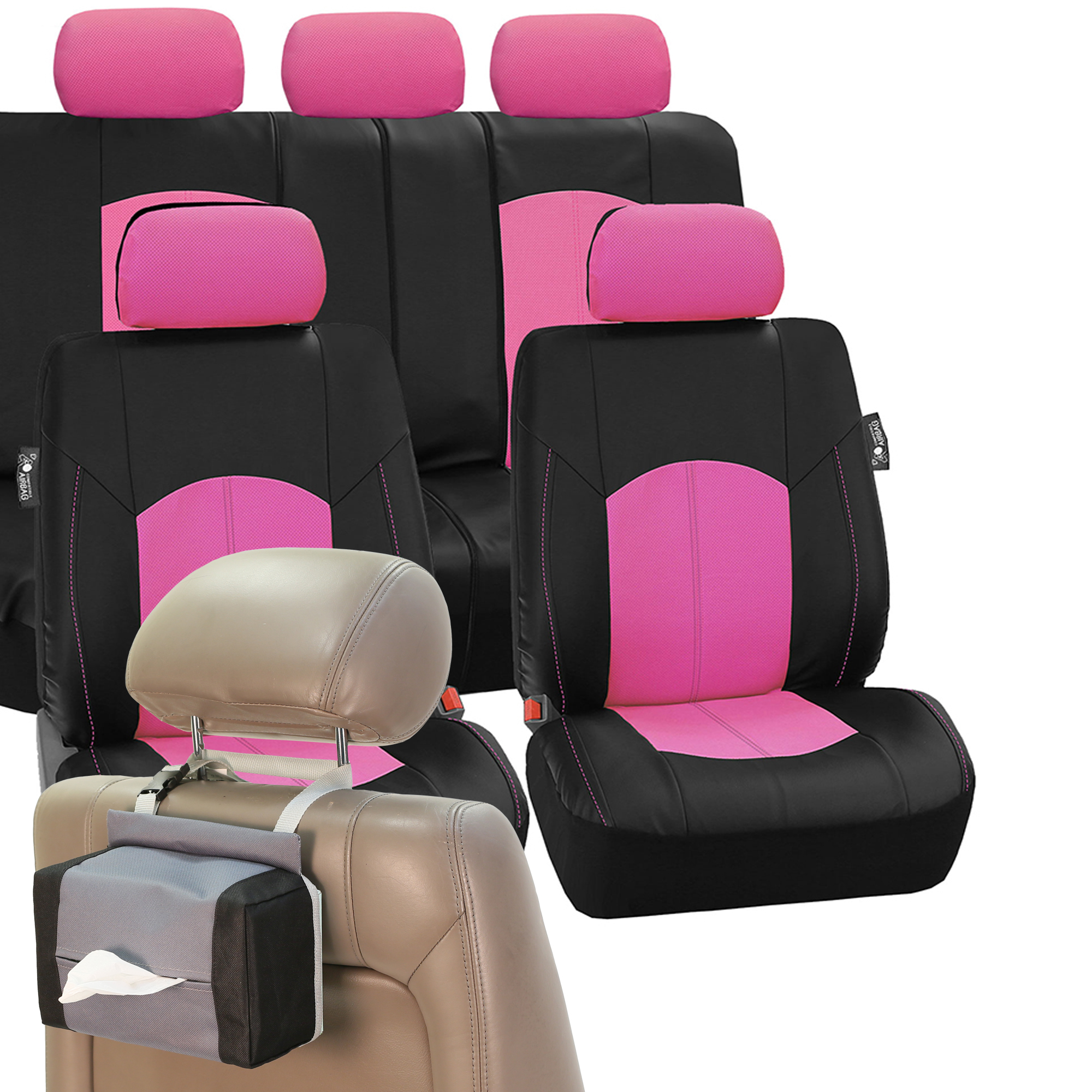 Perforated Leather Seat Covers Car Seat Covers For Auto Airbag