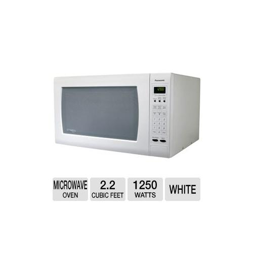 Panasonics NNH965WF Full-Size 2.2 Cu. Ft. 1250W Microwave Oven with Inverter Te