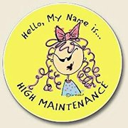 HIGH maintenance NOVELTY absorbent AUTO COASTER car NEW