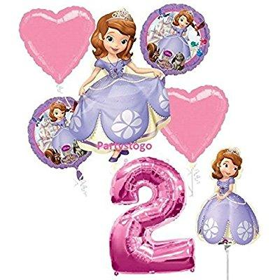 disney princess sofia the first 2nd birthday party balloons decorations with 16 mini shape balloon centerpiece