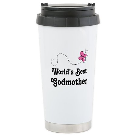 CafePress - Godmother (Worlds Best) Stainless Steel Travel Mug - Stainless Steel Travel Mug, Insulated 16 oz. Coffee