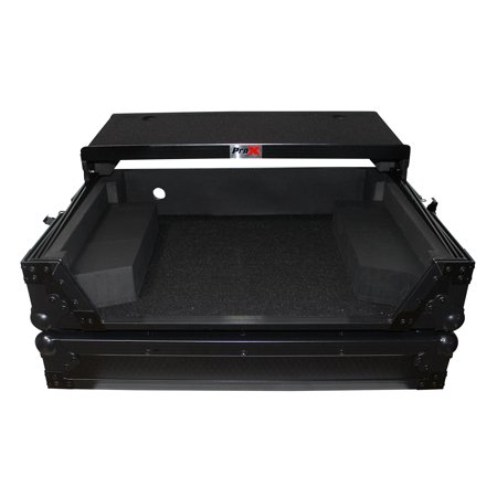 ProX XS-NS6IILTBL Travel Case+Sliding Laptop Shelf 4 Numark NS6II DJ