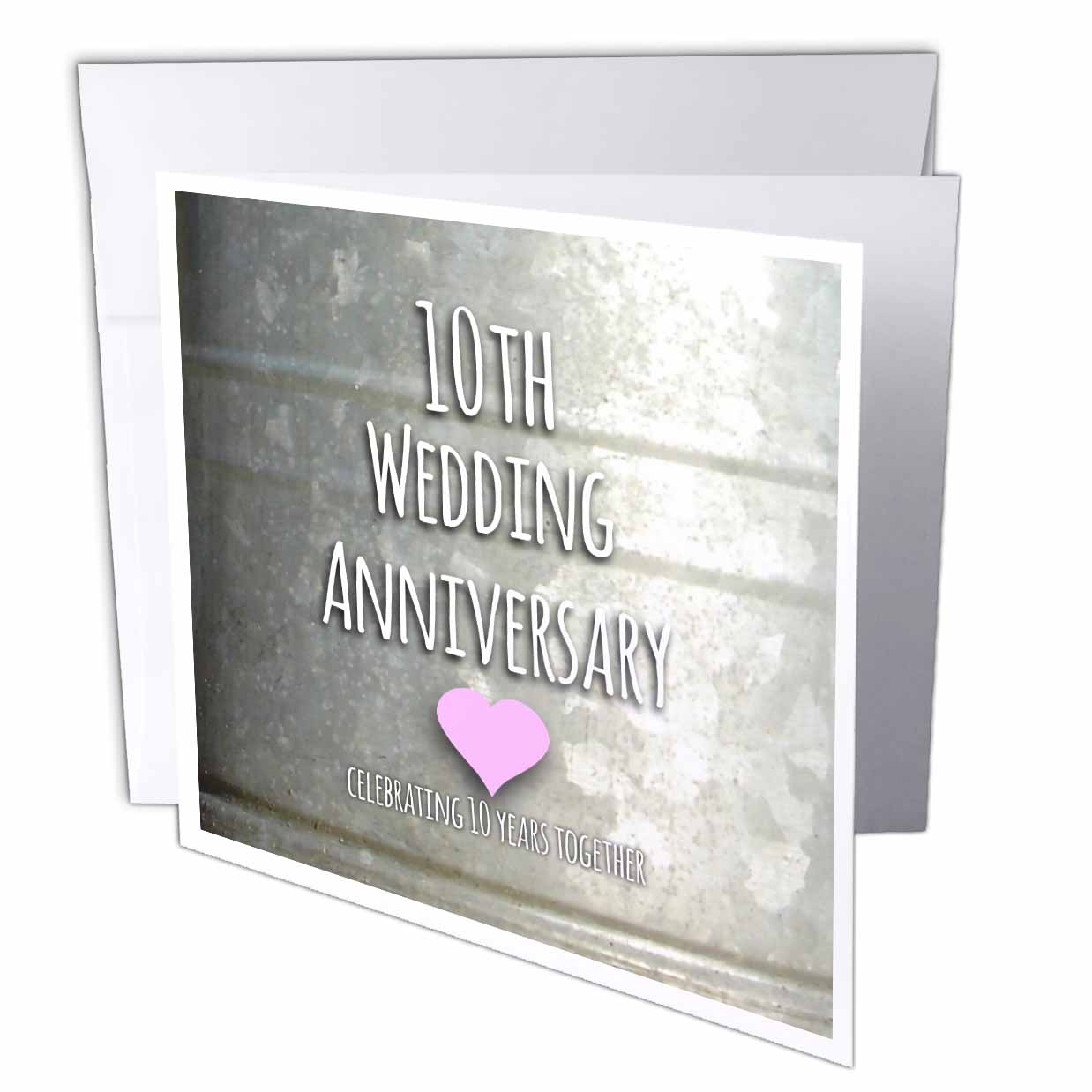 10 Year Wedding Anniversary Tin Gifts: 3dRose 10th Wedding Anniversary Gift