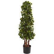 Nearly Natural 3-1/2' English Ivy Spiral, UV Resistant, Indoor and Outdoor