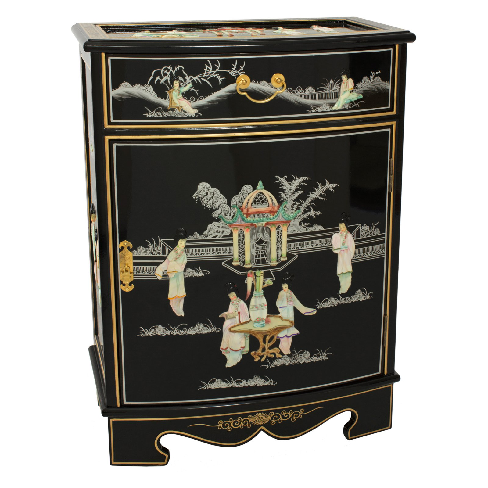 Oriental Furniture Oval Front Cabinet