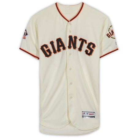 Joe Panik San Francisco Giants Game-Used #12 Cream Jersey from Games Played on September 12th, 16th, 29th, and 30th during the 2018 MLB Season - Fanatics Authentic