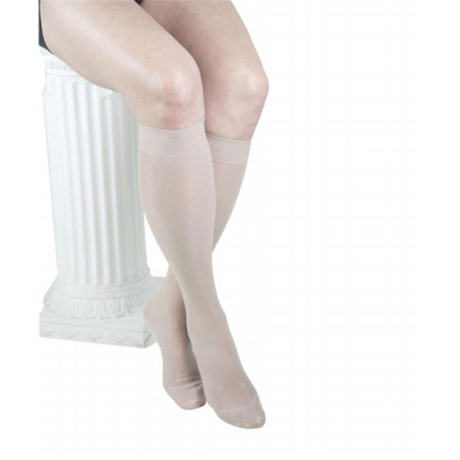 ITA-MED H-160 M ND GABRIALLA Graduated Compression Knee Highs - Sheer  with Band- Medium Compression 18-20 mmHg - Medium