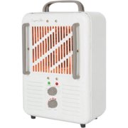 Comfort Glow Milkhouse Style Electric Heater - Electric - 1.50 kW - 2 x Heat Settings - Portable - Chocolate, Cream