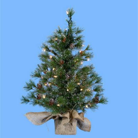 24 in. Silver Tip Pine Pre-Lit Christmas Tree