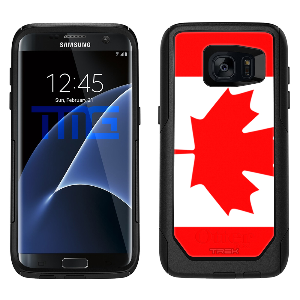 timeless design a9fad c17dd SKIN DECAL FOR OtterBox Commuter Samsung Galaxy S7 Edge Case - Canada Flag  DECAL, NOT A CASE