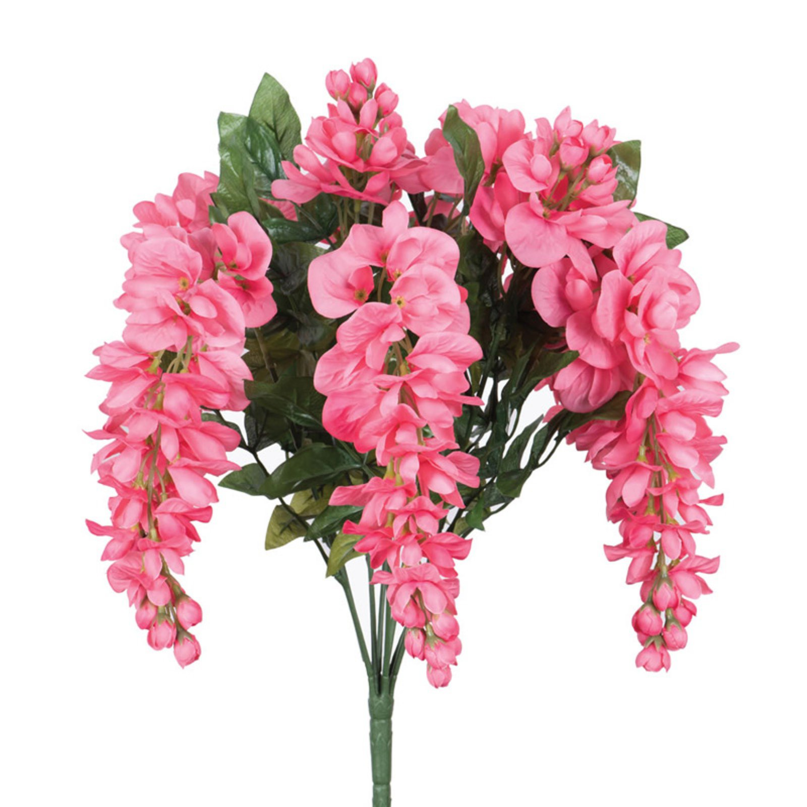 "Vickerman 19"" Artificial Pink Wisteria Bush"