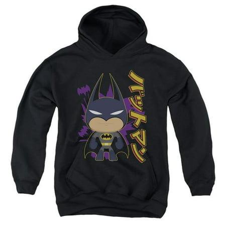 Trevco Sportswear BM2933-YFTH-4 Batman & Cute Kanji-Youth Pull-Over Hoodie, Black - Extra Large - image 1 of 1