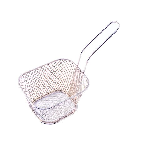 Kitchen Cooking Tools Mini Stainless Steel French Fries Net Fry Fryer Basket Small Square Shape Kitchen Basket - image 1 de 6