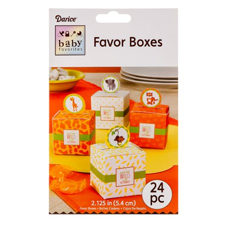 Baby Favorites Favor Boxes - Jungle Theme - 24 pieces