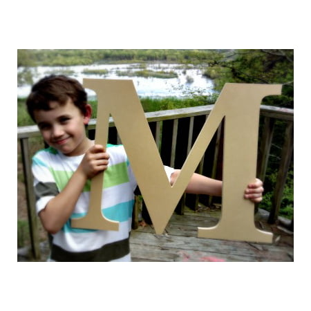 Wooden Craft Letter, Wall Hanging, 12'' Times M, Paintable Letter