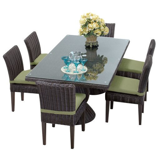 Sol 72 Outdoor Fairfield 7 Piece Dining Set with Cushions