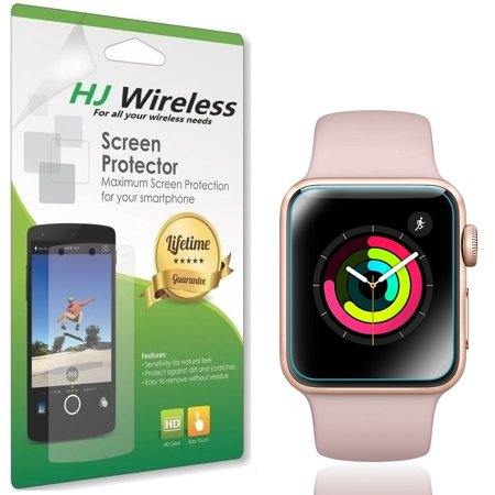 Fully Apple (Apple Watch Screen Protector 38mm [6-Pack], (Series 3/2/1 Compatible) HJ Wireless Full Coverage Screen Protector for Apple Watch HD Anti-Bubble Film Military-Grade Self-Healing UV-Resistant)