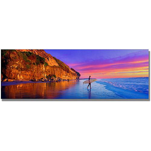 "Trademark Art ""Moonlight Beach"" Canvas Wall Art by Preston"