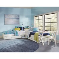 Hillsdale Pulse L-Shaped Twin Beds with Double Storage, Multiple Finishes