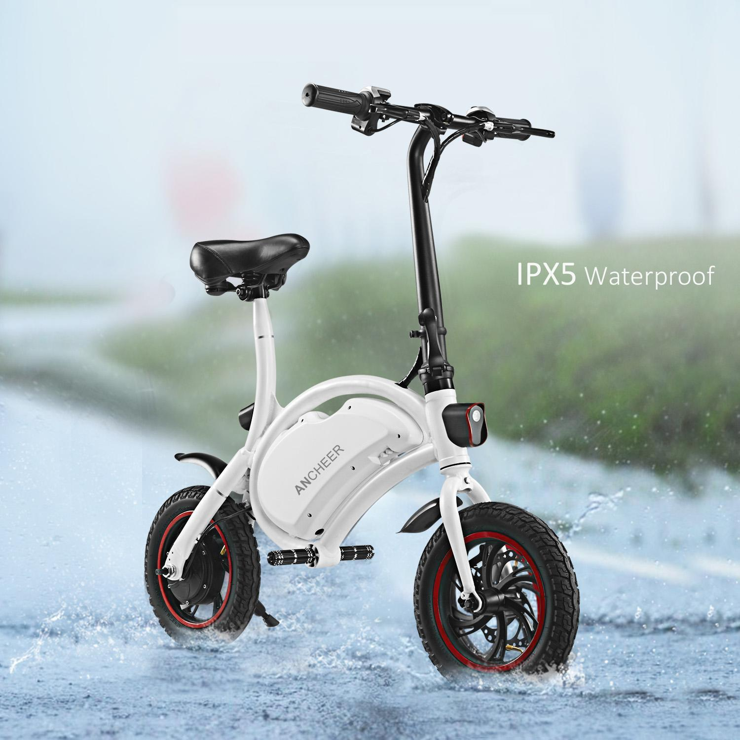 BT System+350W 36V 6AH Batt APP Control Smart Folding Electric Bike With Automatic Headlight