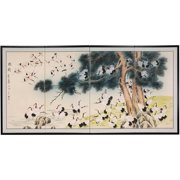 """Oriental Furniture 36"""" Hundred Cranes, wall art, wall hanging, wall décor, oriental, hand crafted"""