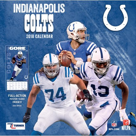 Turner Sports Indianapolis Colts 2018 12X12 Team Wall Calendar