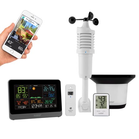 La Crosse Technology C83100 WiFi Professional Weather Center with Remote (Best Home Weather Station Wifi)